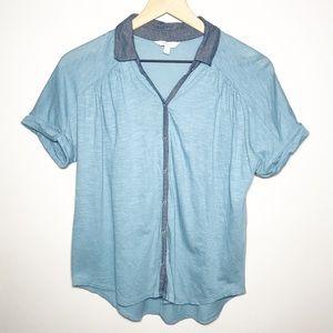 Lucky Brand Size Small Short Sleeve Button Shirt